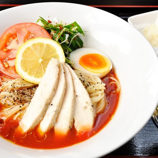 【夏季限定】冷製チリトマそば~鶏のササミの日本酒と塩麹漬けと自家製ジェノベーゼソース添え~