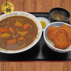 カレーラーメン+ミニたれカツ